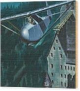 Glider Escape From Colditz Castle Wood Print