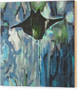 Gliding Stingray Wood Print