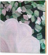 Glimmering Petals Wood Print