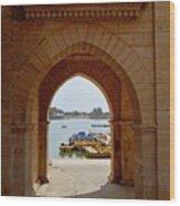 Glimpse Of Gadisar Lake Wood Print