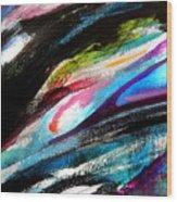 Glimpse Pink Fish Wood Print
