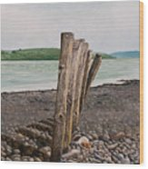 Glin Beach Breakers Wood Print