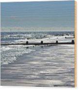 Glistening Shore Wood Print