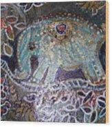 Glitter Girl Elephant Walking In My Dream  Wood Print