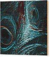 Glitter In The Night Wood Print