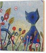 Glitter Kitty Wood Print