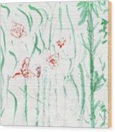 Glittering Spring Wood Print