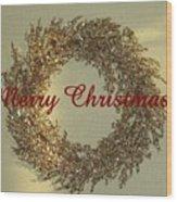 Glittery Wreath Wood Print