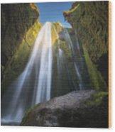 Gljufrabui Iceland Waterfall Wood Print