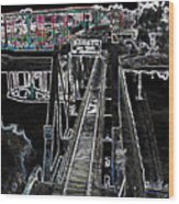 glo 247- Going To The Boardwalk Wood Print