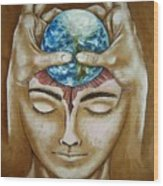 Global  Awareness Wood Print by Paulo Zerbato