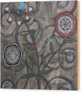Global Garden Wood Print