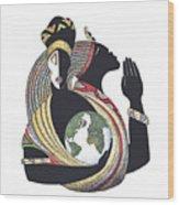 Global Love Wood Print