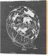 Globe For Astrologers Wood Print
