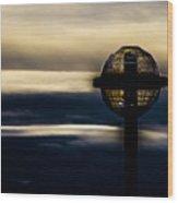 Globe Lamp Wood Print