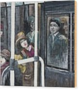 Gloria Swanson In Subway Scene From Manhandled Wood Print by Reb Frost