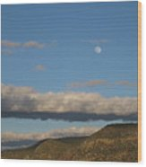 Glorietta Moon Wood Print