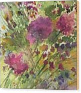 Glorious Flowers Wood Print