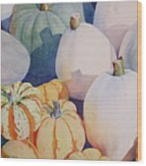 Glorious Gourds Wood Print