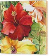 Glorious Hibiscus Wood Print