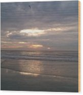 Glorious Morning Jacksonville Beach Wood Print