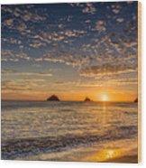 Glorious Playa Sunset Wood Print