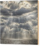 Glorious Rays Of The Heavens Wood Print