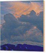 Glory Of Sunset Wood Print