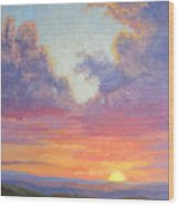 Glory Of The Western Sky Wood Print