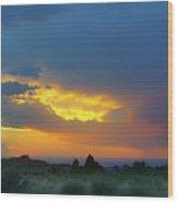 Glory Rays - Albuquerque Wood Print