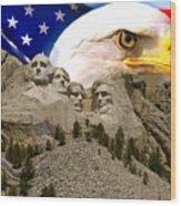 Glory To America Wood Print