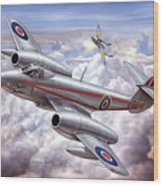 Gloster Meteor Wood Print