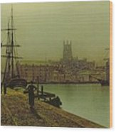 Gloucester Docks Wood Print by John Atkinson Grimshaw