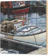 Gloucester Harbor Wood Print