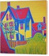 Gloucester Hilltop Wood Print