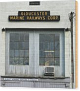 Gloucester Marine Railways Massachusetts Wood Print