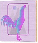 Glow Chicken Wood Print