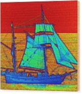 Glow Ship 3 Photograph Wood Print