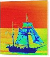 Glow Ship 7 Photograph Wood Print
