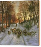 Glowed With Tints Of Evening Hours Wood Print by Joseph Farquharson