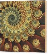 Glowing Amber Wood Print