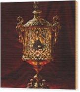 Glowing Antique Lantern Wood Print