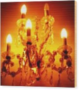 Glowing Chandelier--companion Piece Wood Print