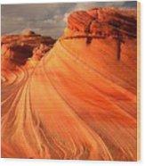 Glowing Desert Dragon Wood Print
