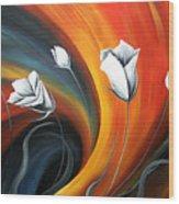 Glowing Flowers 5 Wood Print