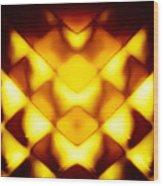 Glowing Honeycomb Wood Print