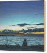 Glowing Horizon Wood Print