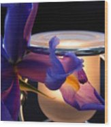Glowing Iris Wood Print