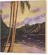 Glowing Kualoa Diptych 1 Of 2 Wood Print