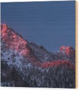 Glowing Little Cottonwood Canyon Wood Print